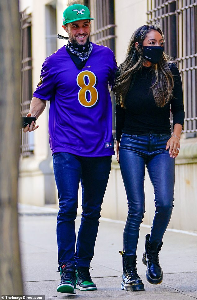 Tayshia Adams enjoys a romantic outing with her fiancé Zac Clark in New York City after Christmas with her family.