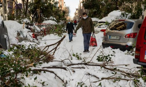 Snowstorm in Spain: a paralyzed country, sending vaccines, food convoys