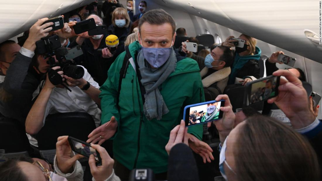 Alexei Navalny was detained upon his return to Moscow, five months after he was poisoned