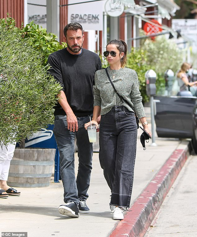 Low key: They spent an inseparably large portion of 2020 enjoying Los Angeles walks with their dogs and casual outings for coffee