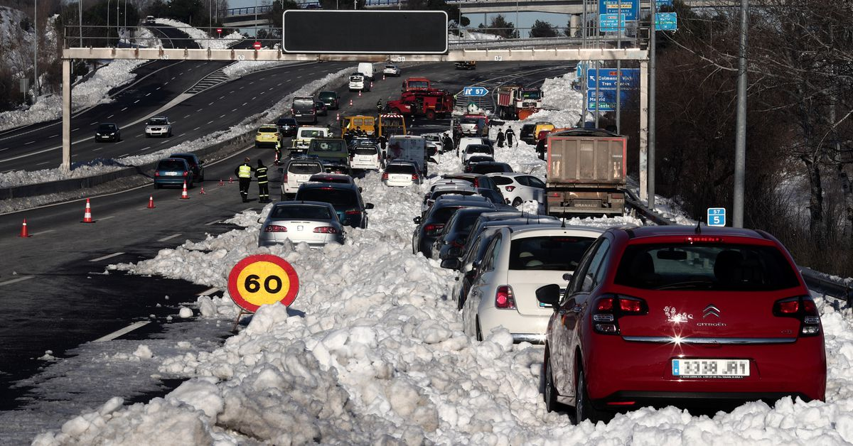 Spain is still boring itself out of Philomena, the worst snowstorm it has seen in 50 years