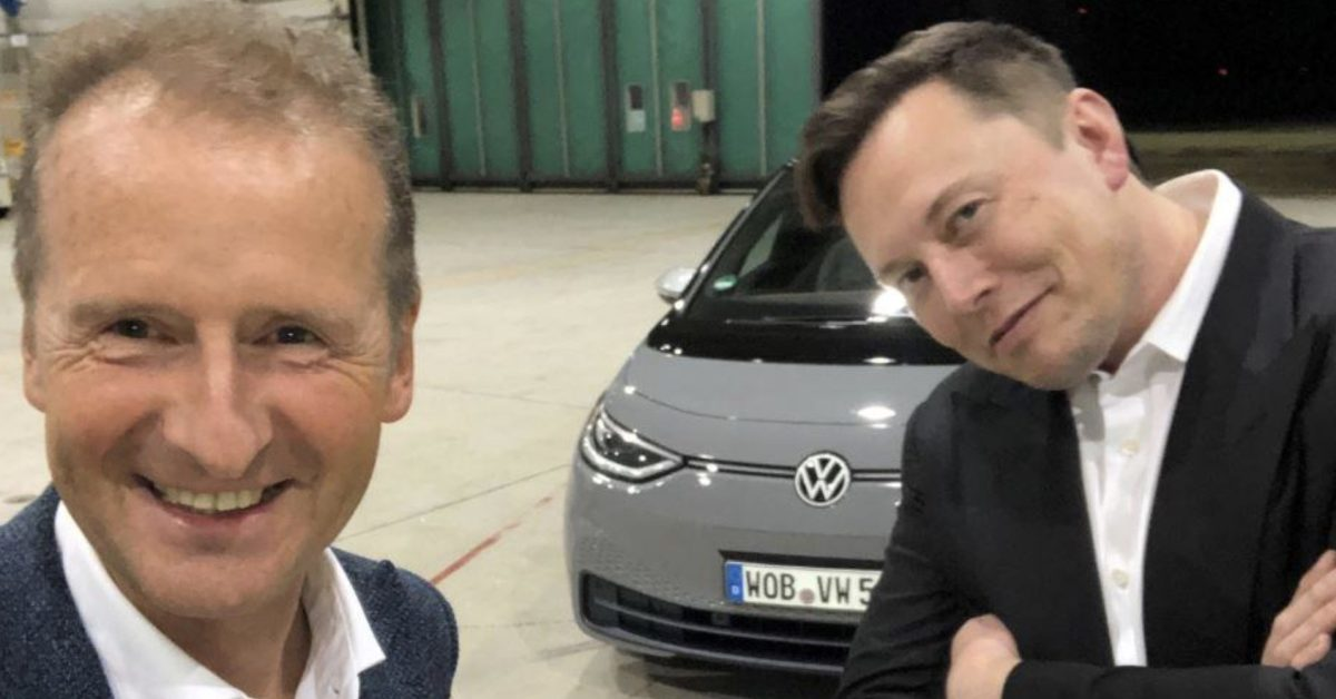 Volkswagen CEO Elon Musk teases Tesla to make his Twitter debut
